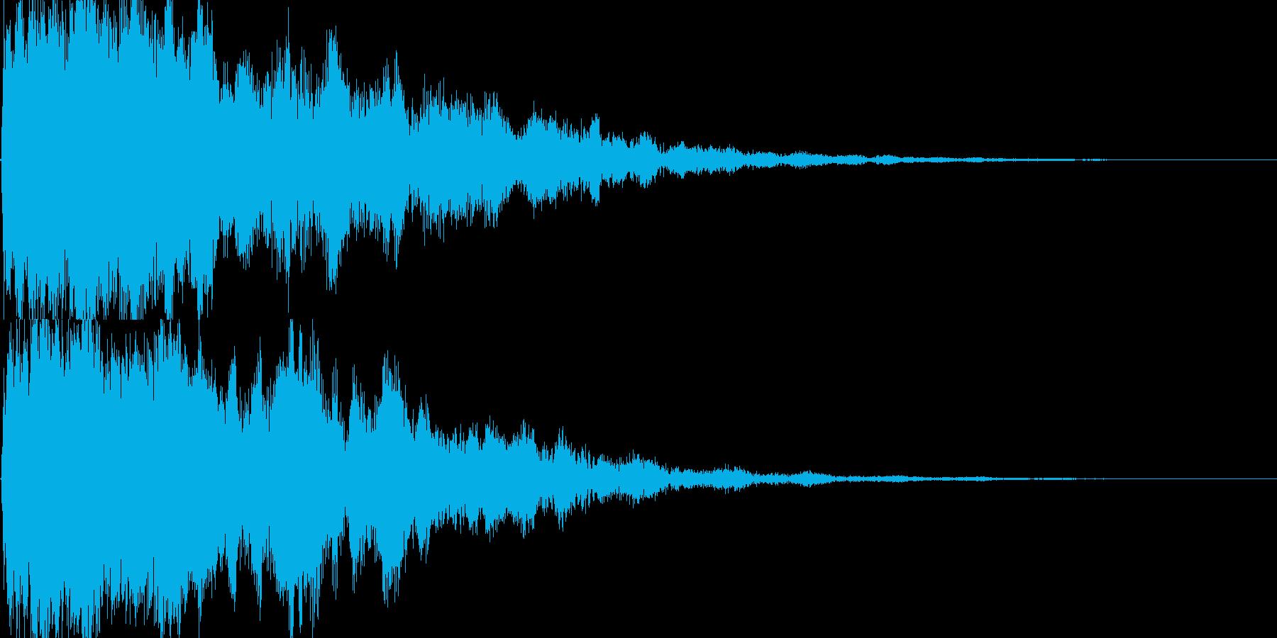 シャキーン!(闇や毒などの特殊魔法)06の再生済みの波形