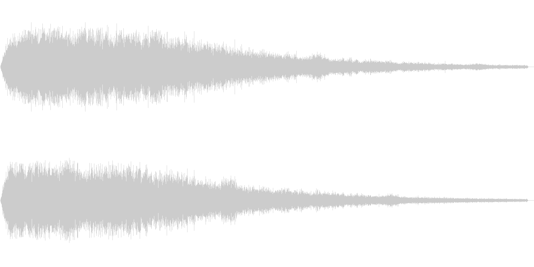 ホワイトノイズ(雑音)の未再生の波形