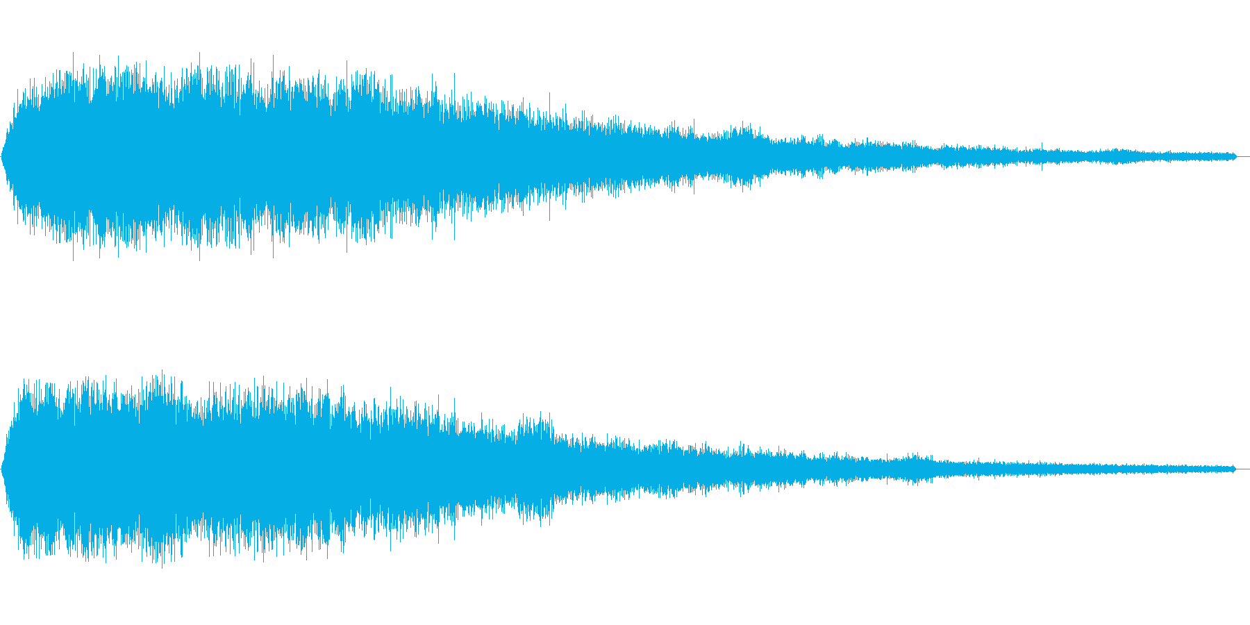 ホワイトノイズ(雑音)の再生済みの波形
