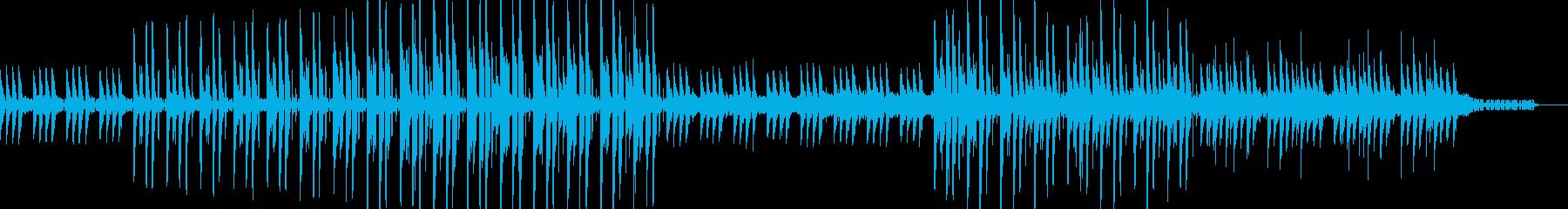 幻想的なアンビエント調テクノの再生済みの波形