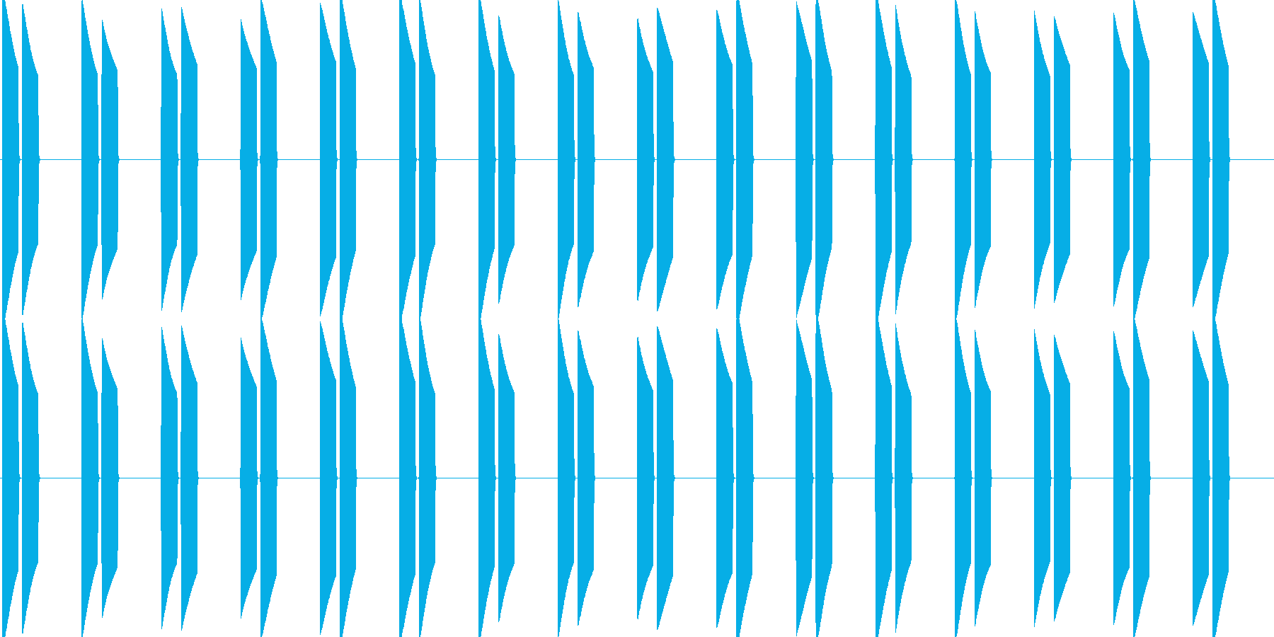ピピッピピッ(大型車の右左折のアラート)の再生済みの波形