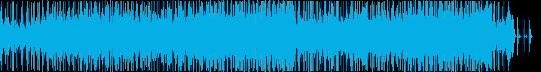 ミステリアスなテックハウスEDMの再生済みの波形