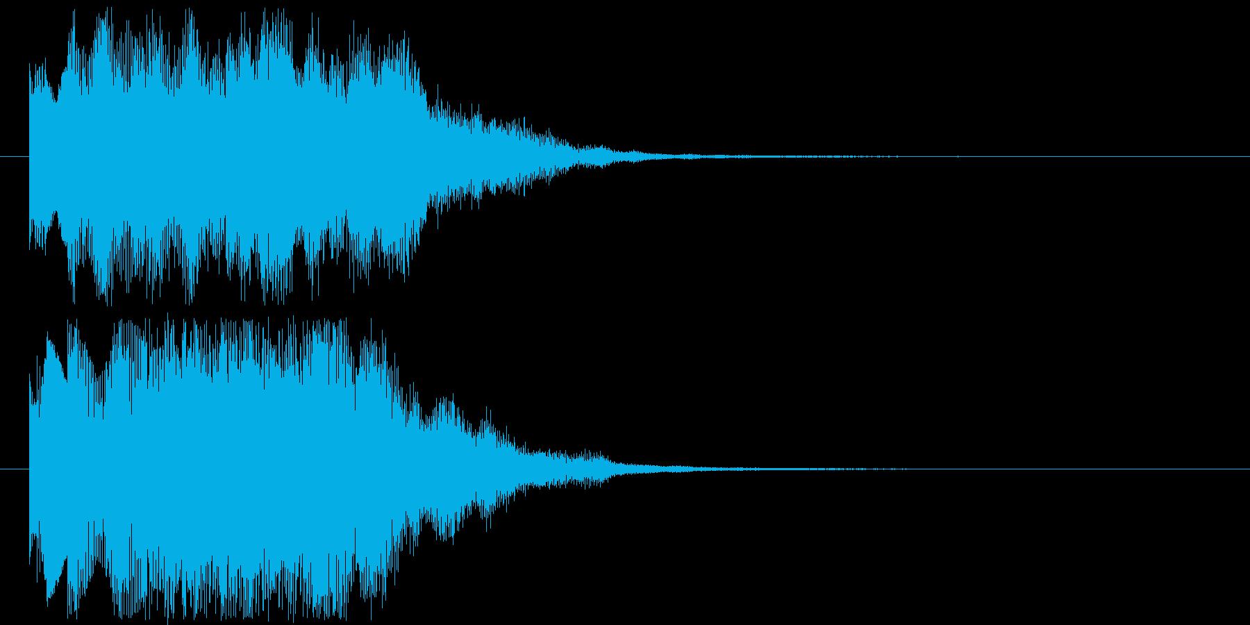 チャイムを思わせるミュージックの再生済みの波形
