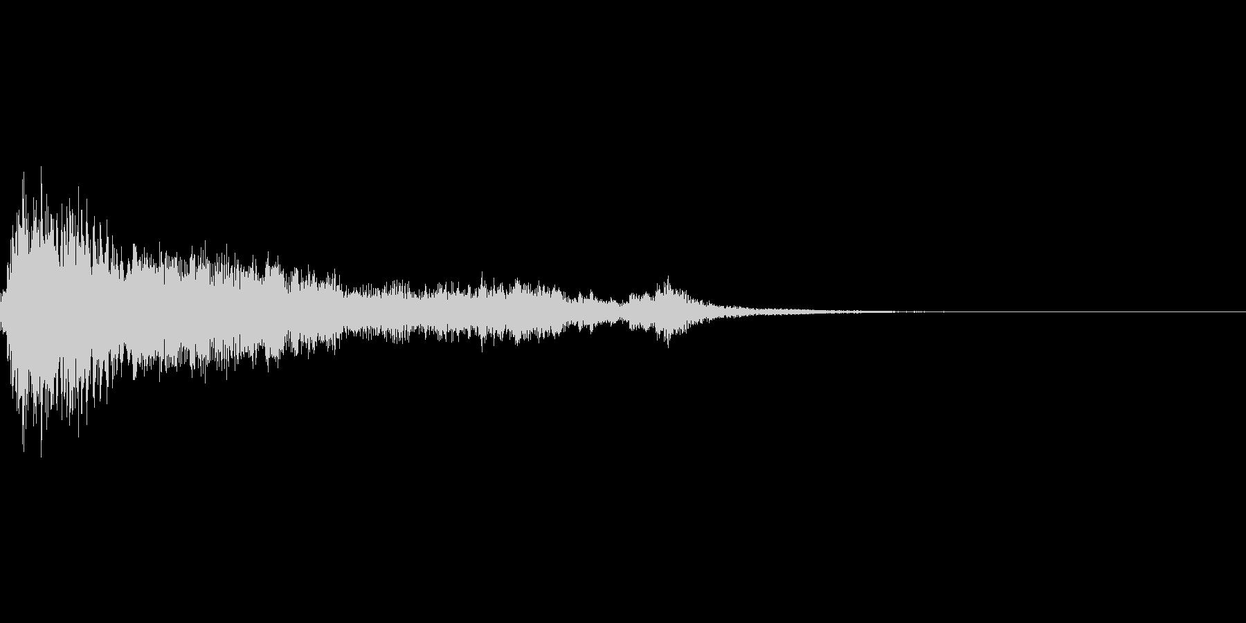 キュイーンと気づく音の未再生の波形