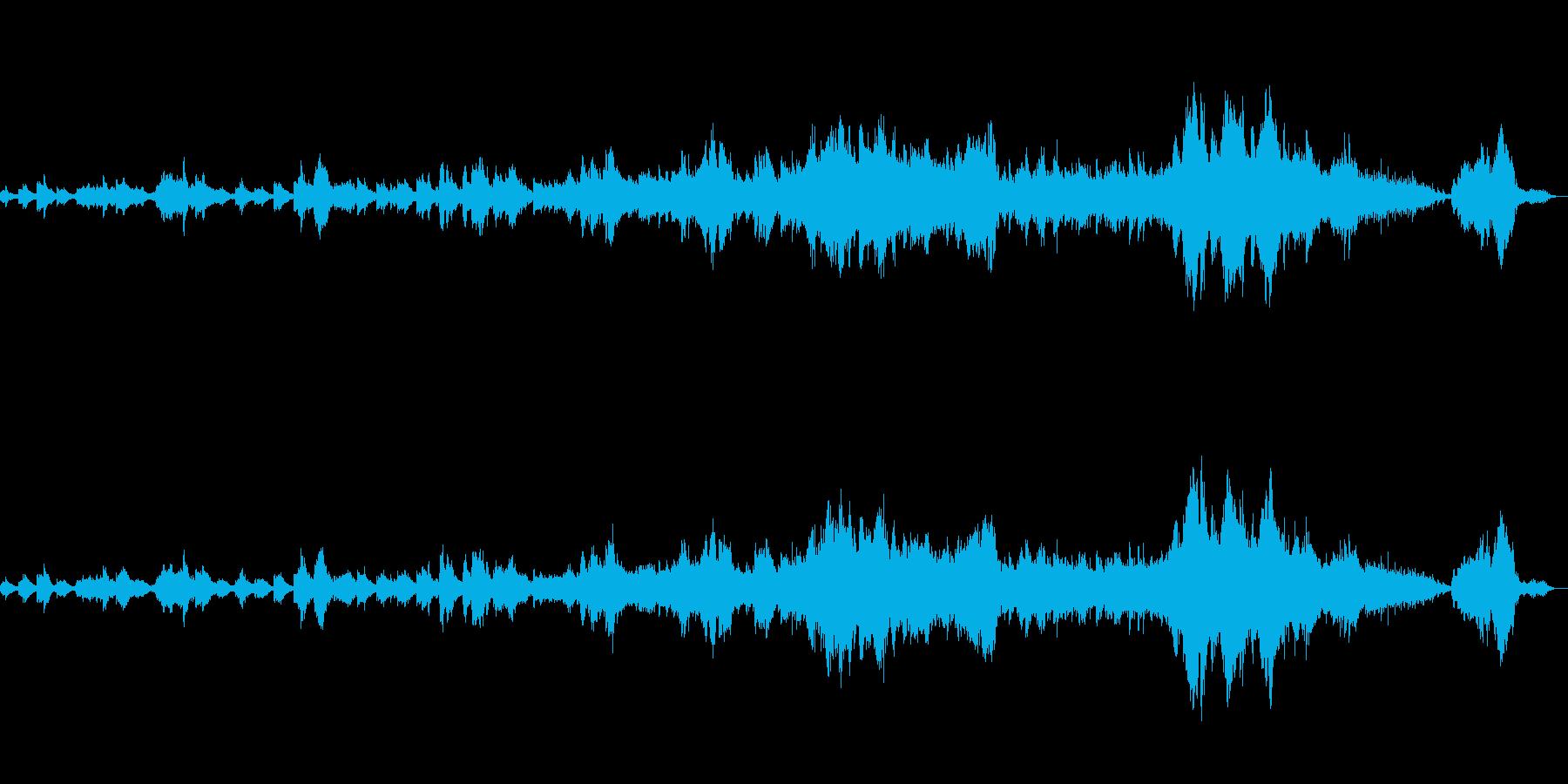 海の底で歌う人魚のようなボーカルとピアノの再生済みの波形