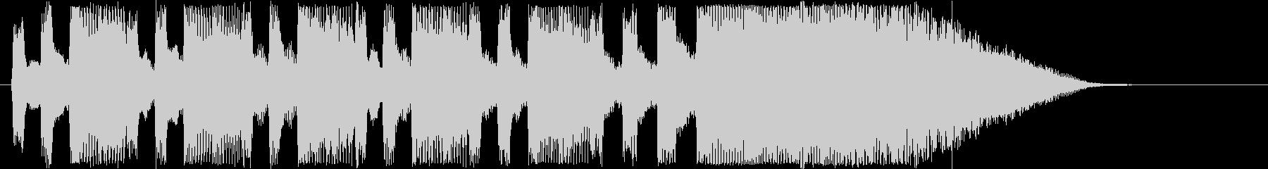 ドキドキ感のあるシンセサウンド短めの未再生の波形