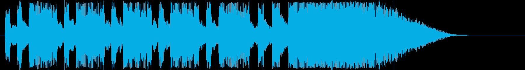 ドキドキ感のあるシンセサウンド短めの再生済みの波形