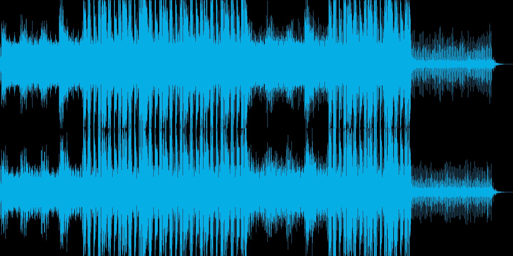 ピアノの旋律とシンセサイザーの音色が綺…の再生済みの波形