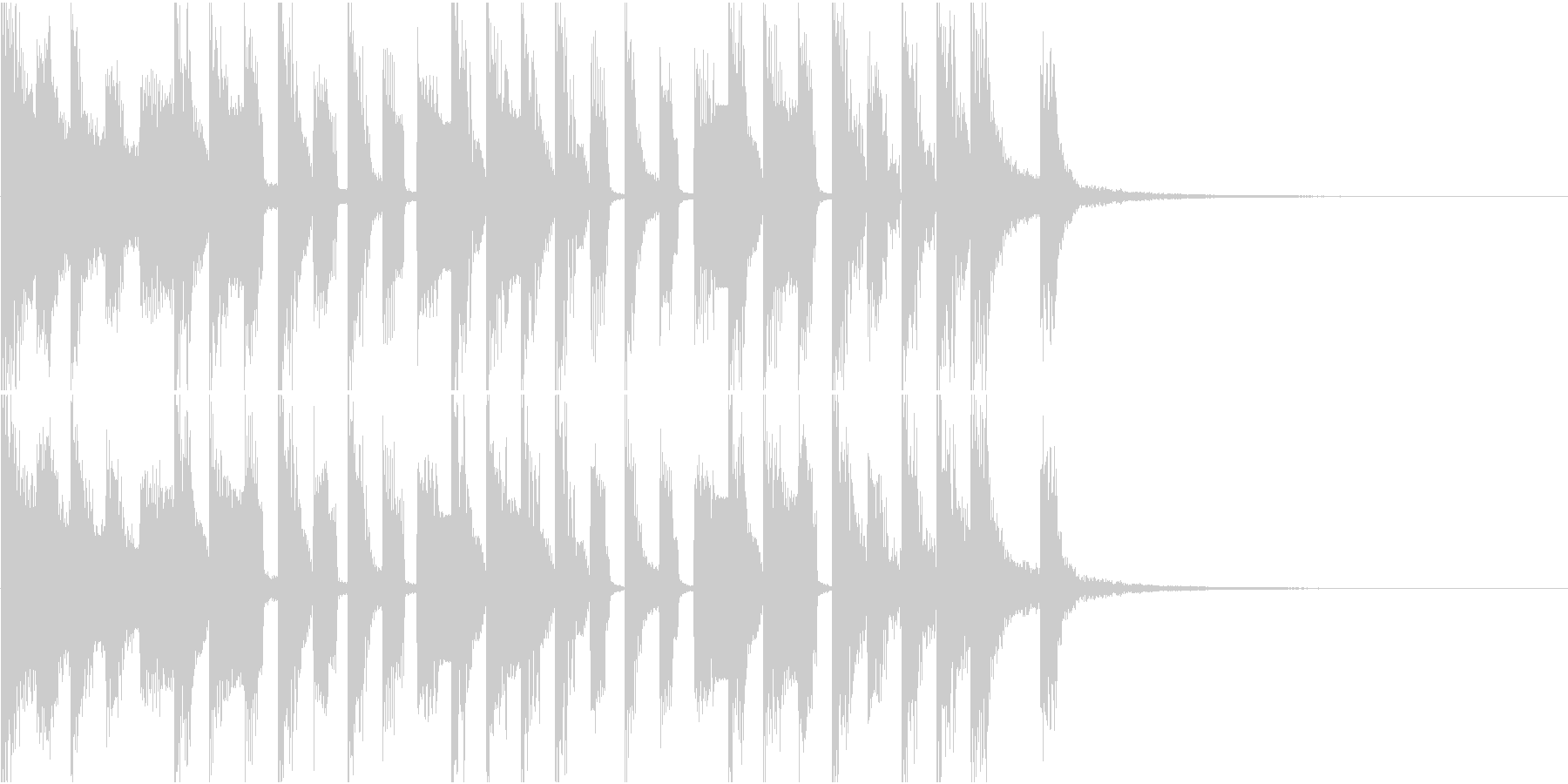 かわいいポップなチップチューン ジングルの未再生の波形