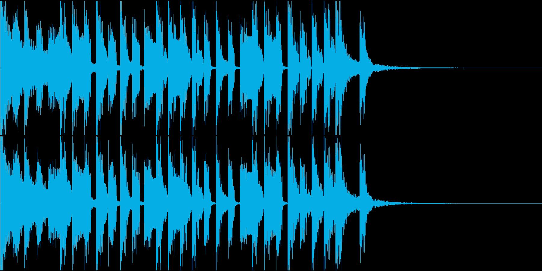 かわいいポップなチップチューン ジングルの再生済みの波形