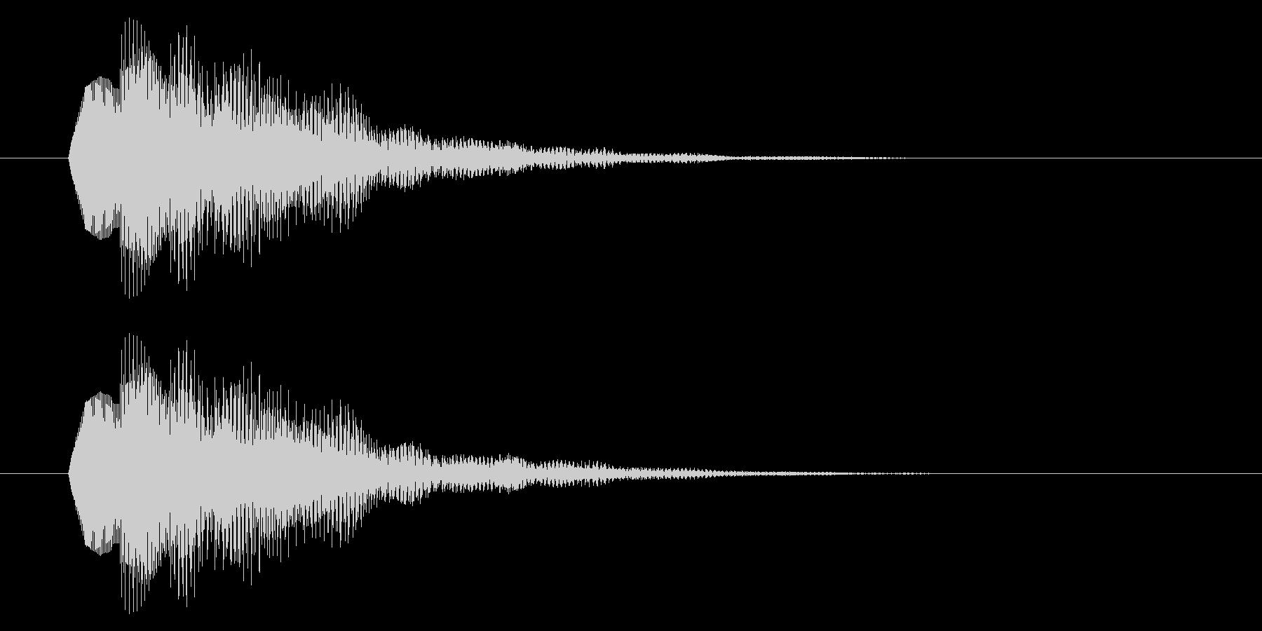 決定音/SF系/電子音の未再生の波形