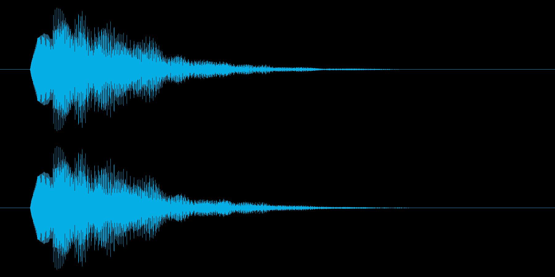 決定音/SF系/電子音の再生済みの波形