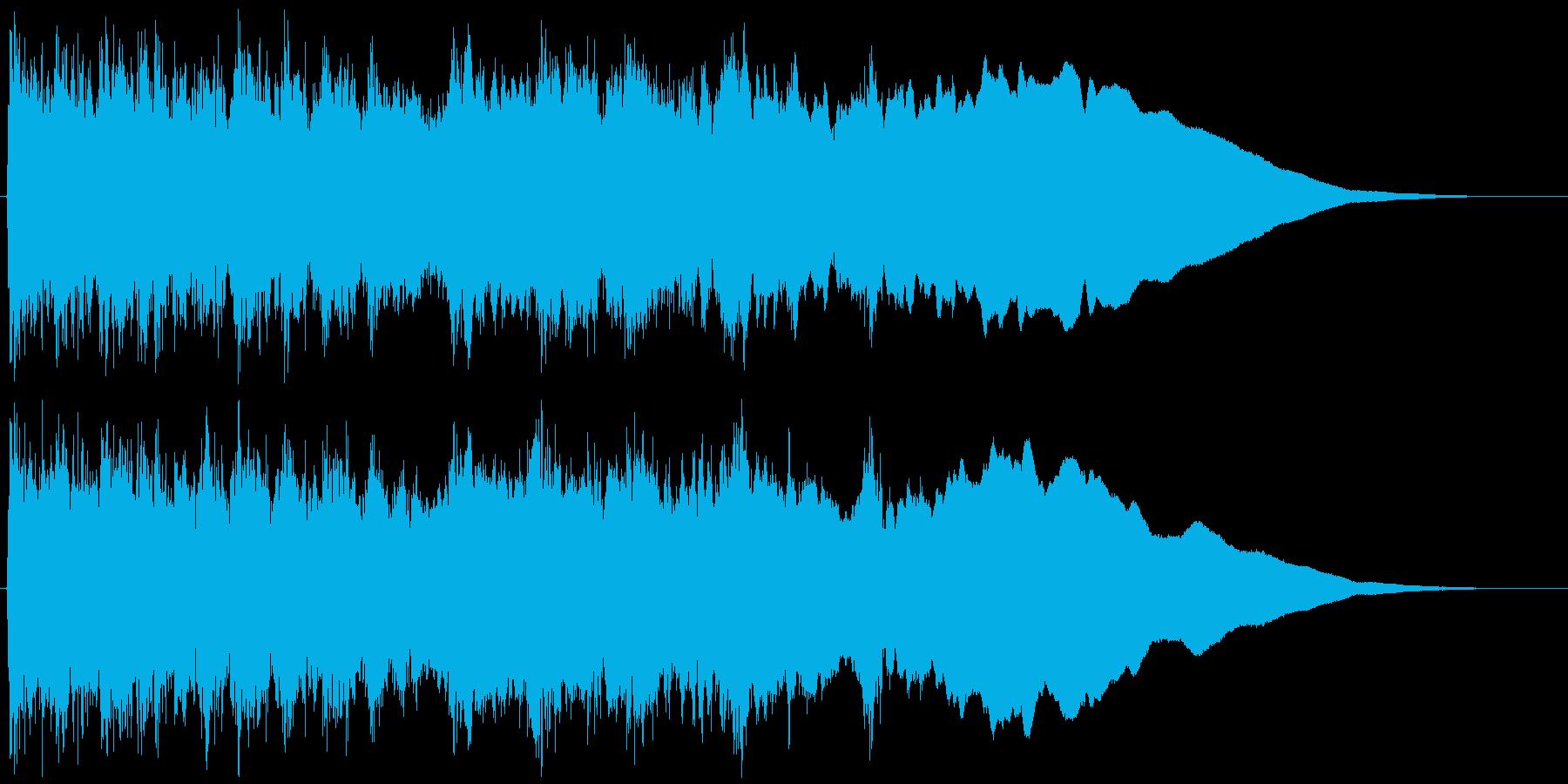 メタルギター ハーモニックマイナー速弾きの再生済みの波形