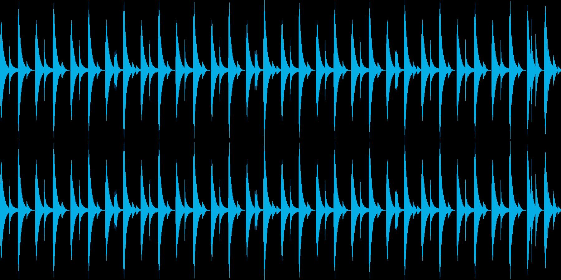 808音源を使用したシンプルなリズム03の再生済みの波形