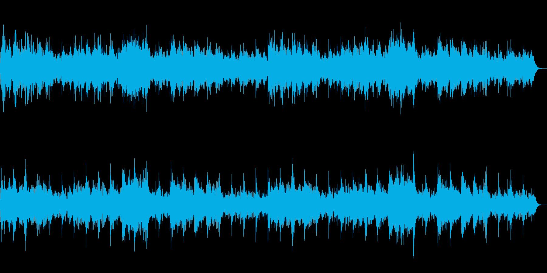 神聖なシーンや場所でのBGMの再生済みの波形