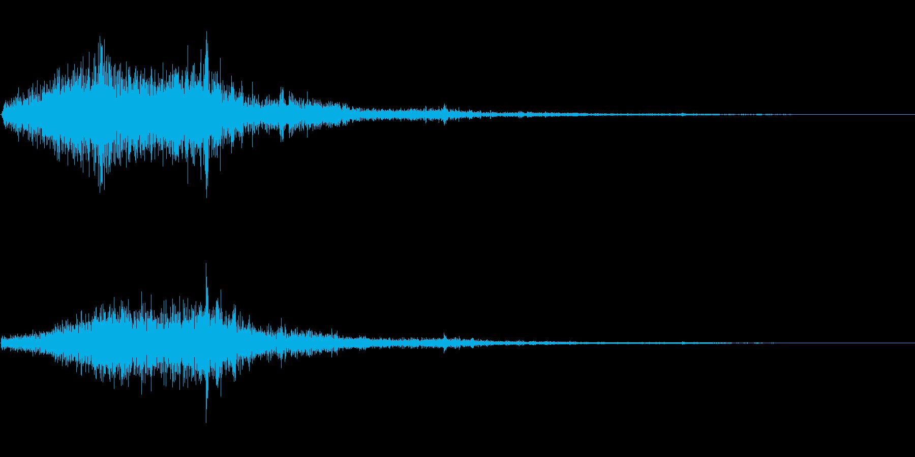 シャッ(雪かき)の再生済みの波形