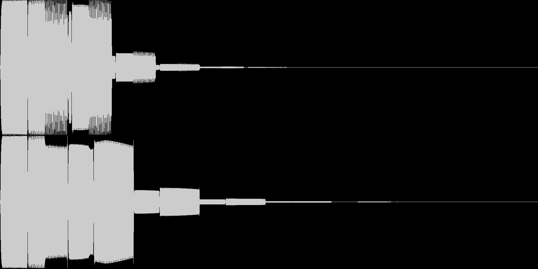 汎用キャンセルボタン - 5の未再生の波形