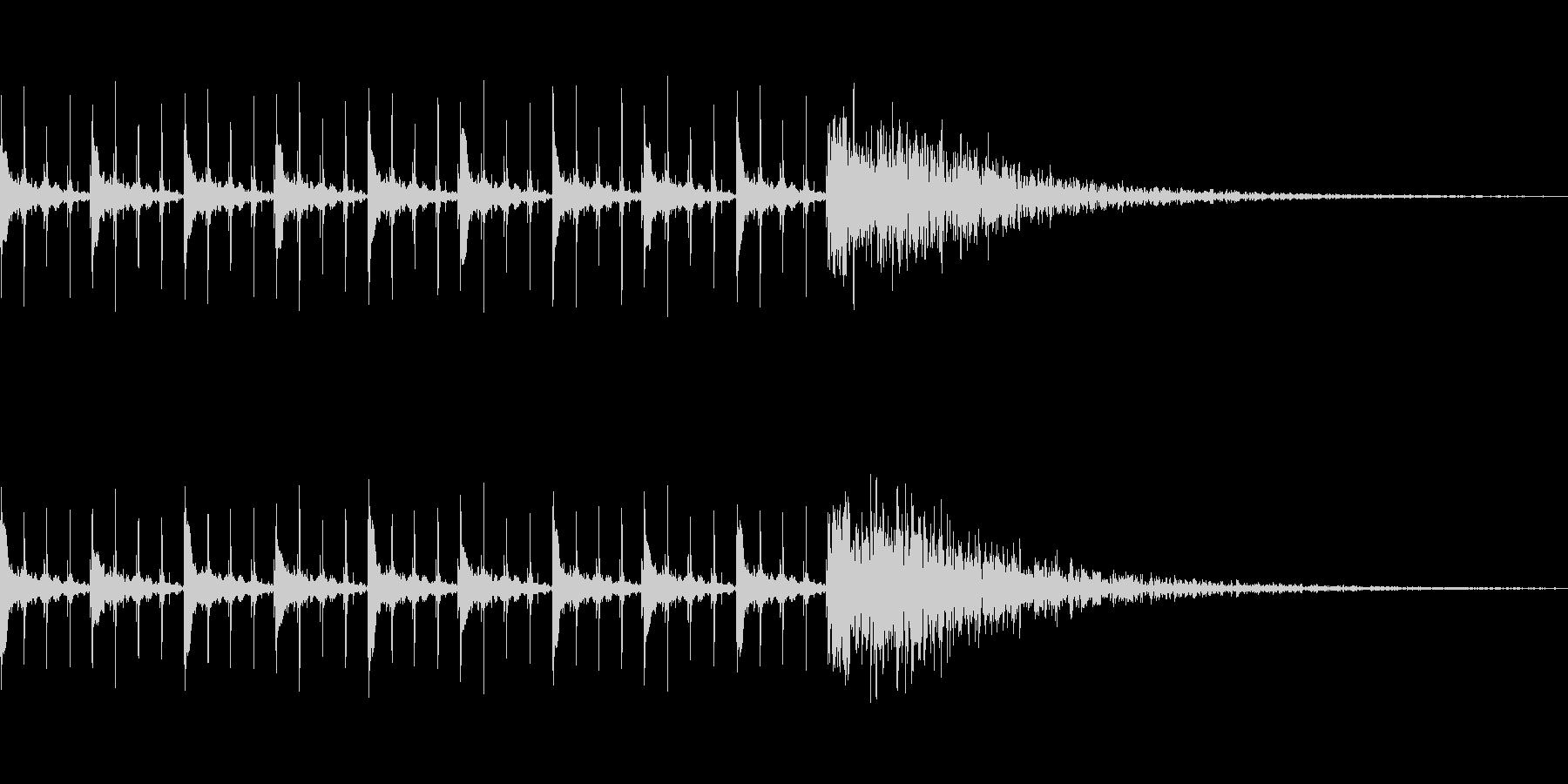 カウントダウン効果音(10秒)の未再生の波形