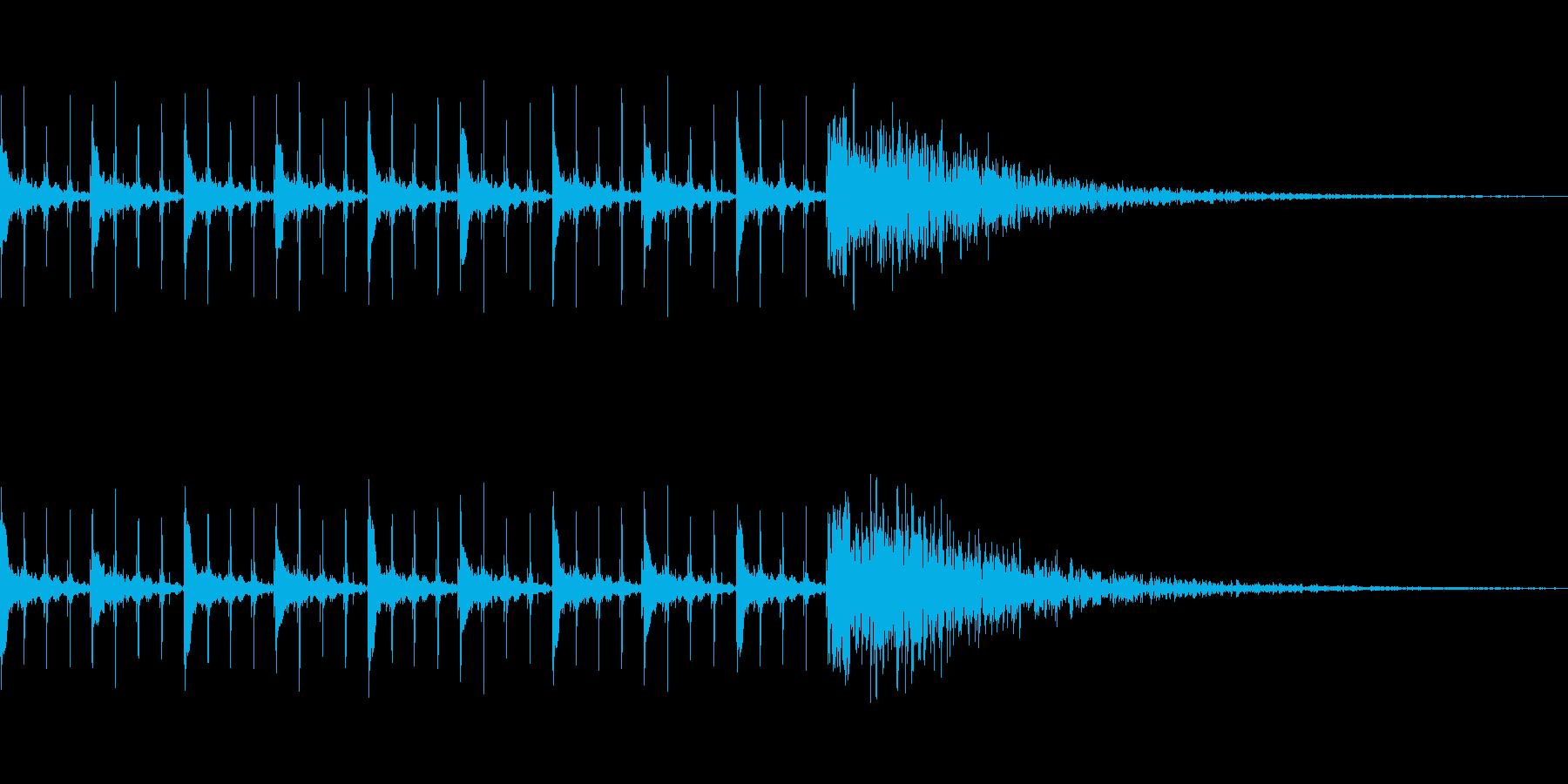 カウントダウン効果音(10秒)の再生済みの波形