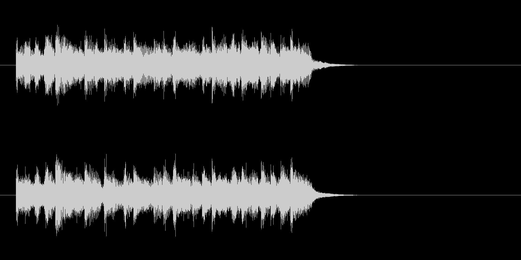 ジングル(ロック)の未再生の波形
