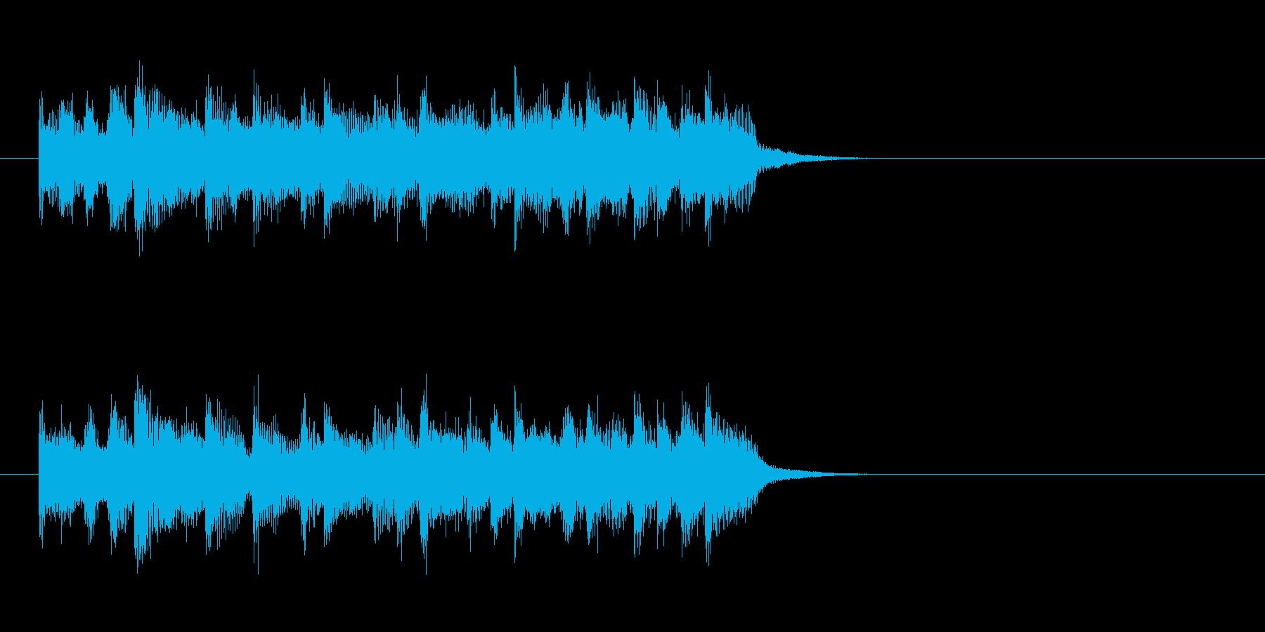 ジングル(ロック)の再生済みの波形