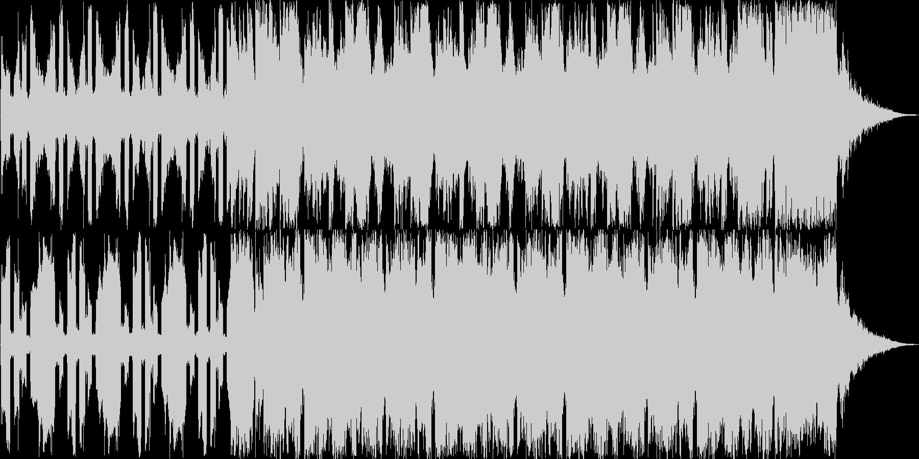 登場、オープニングシーン ディスコ調の未再生の波形