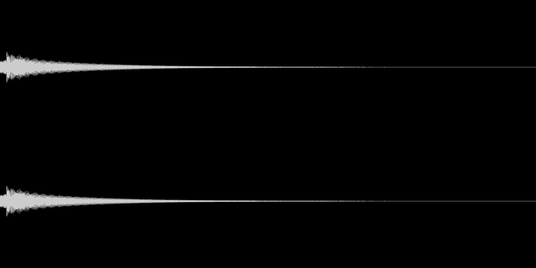 チベッタンベルの未再生の波形
