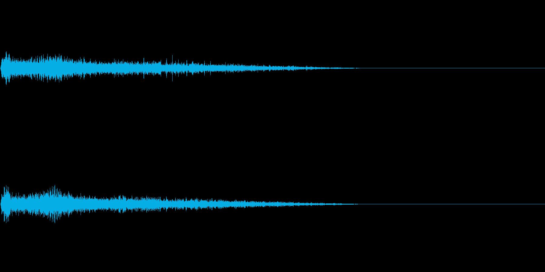 Bマイナー インパクト音 衝撃音の再生済みの波形