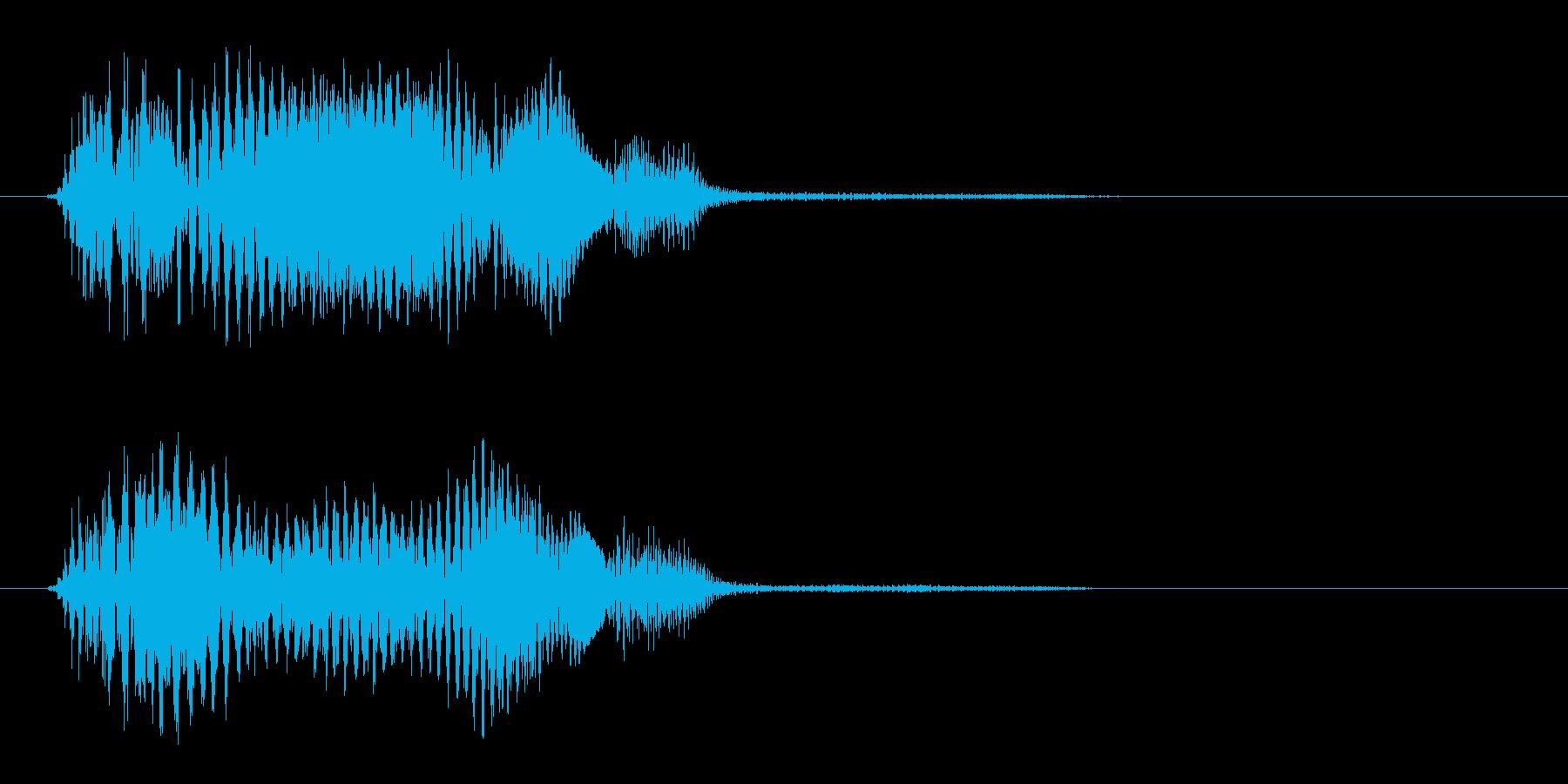 プェッ(シンプルな決定音)の再生済みの波形