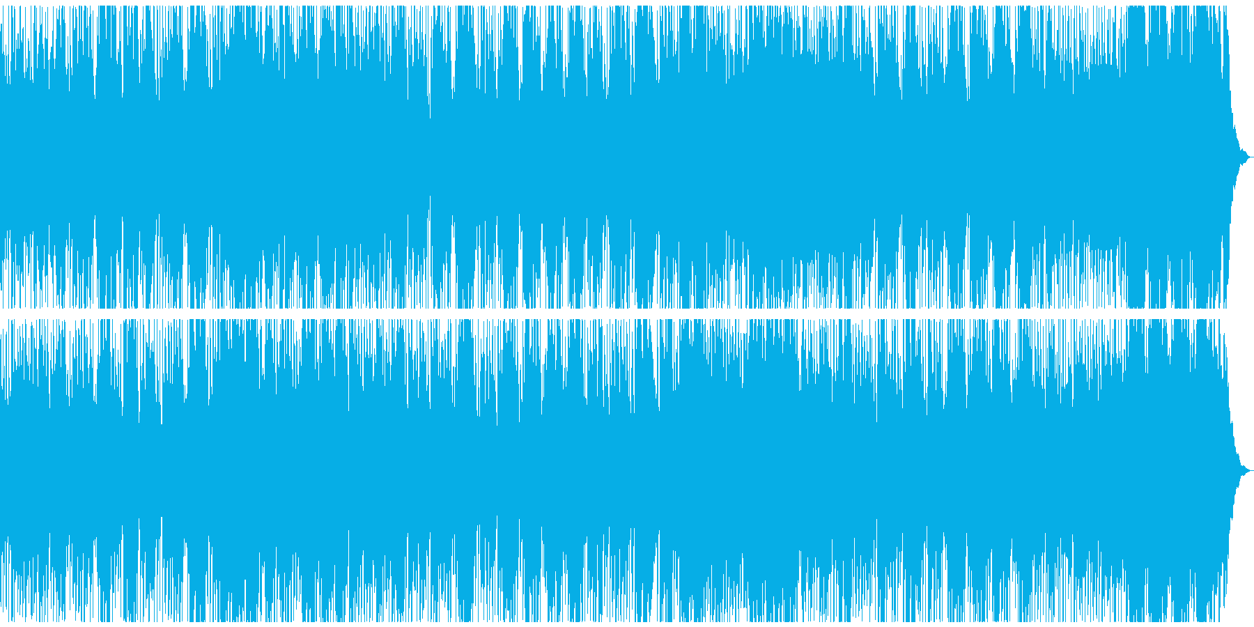 口笛が印象的なウキウキして笑顔になれる曲の再生済みの波形