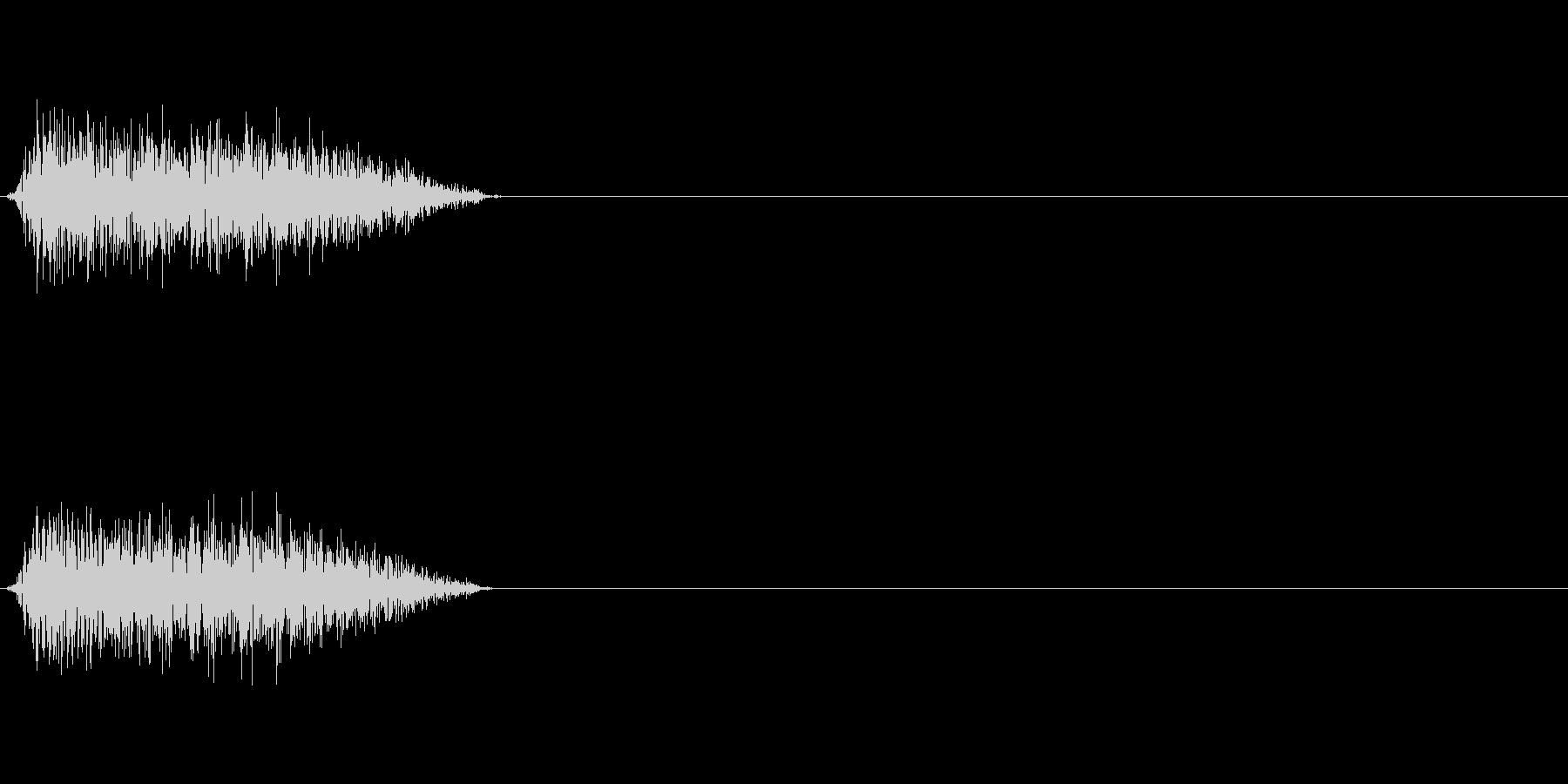 シュー 斬撃音の未再生の波形