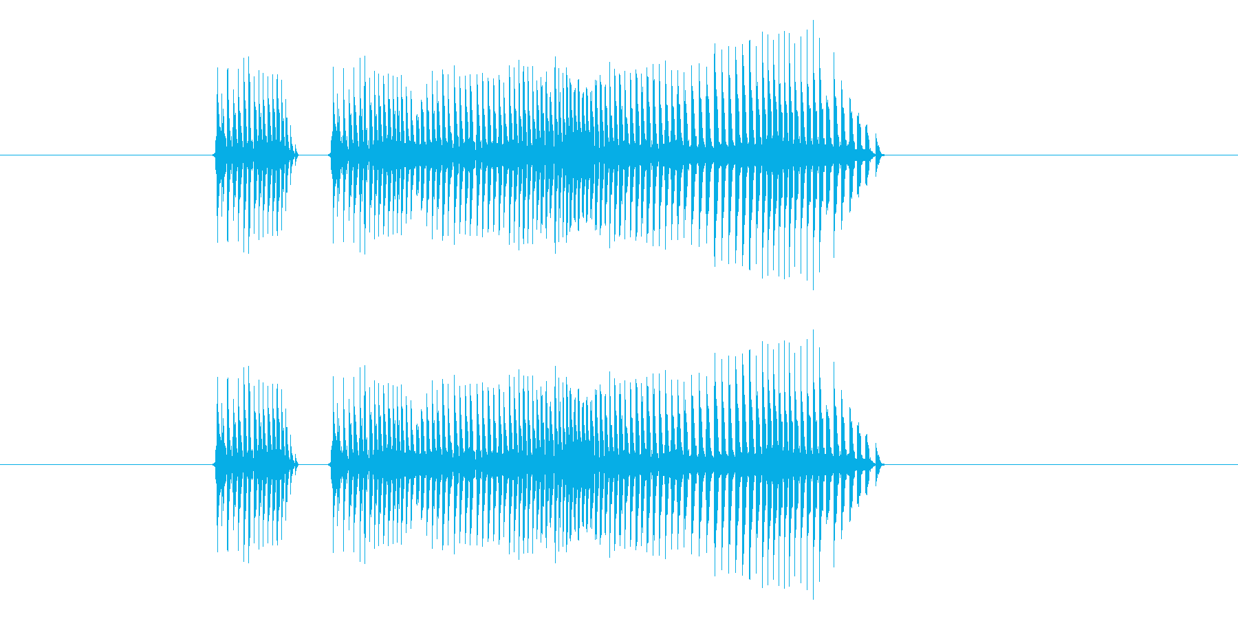 音ネタをエフェクトほか加工し作成しまし…の再生済みの波形