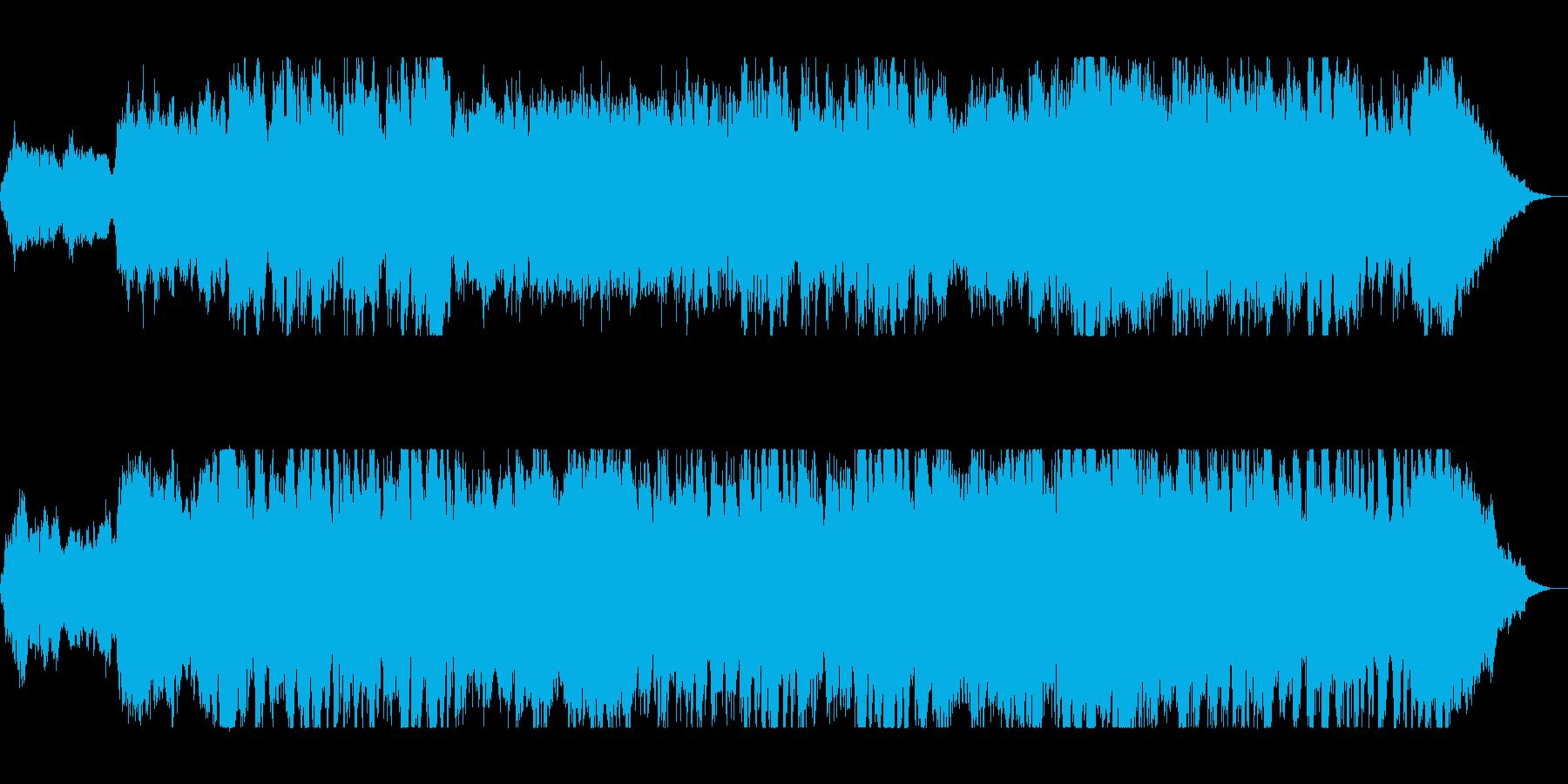 壮大でファンタジーな管楽器シンセサウンドの再生済みの波形