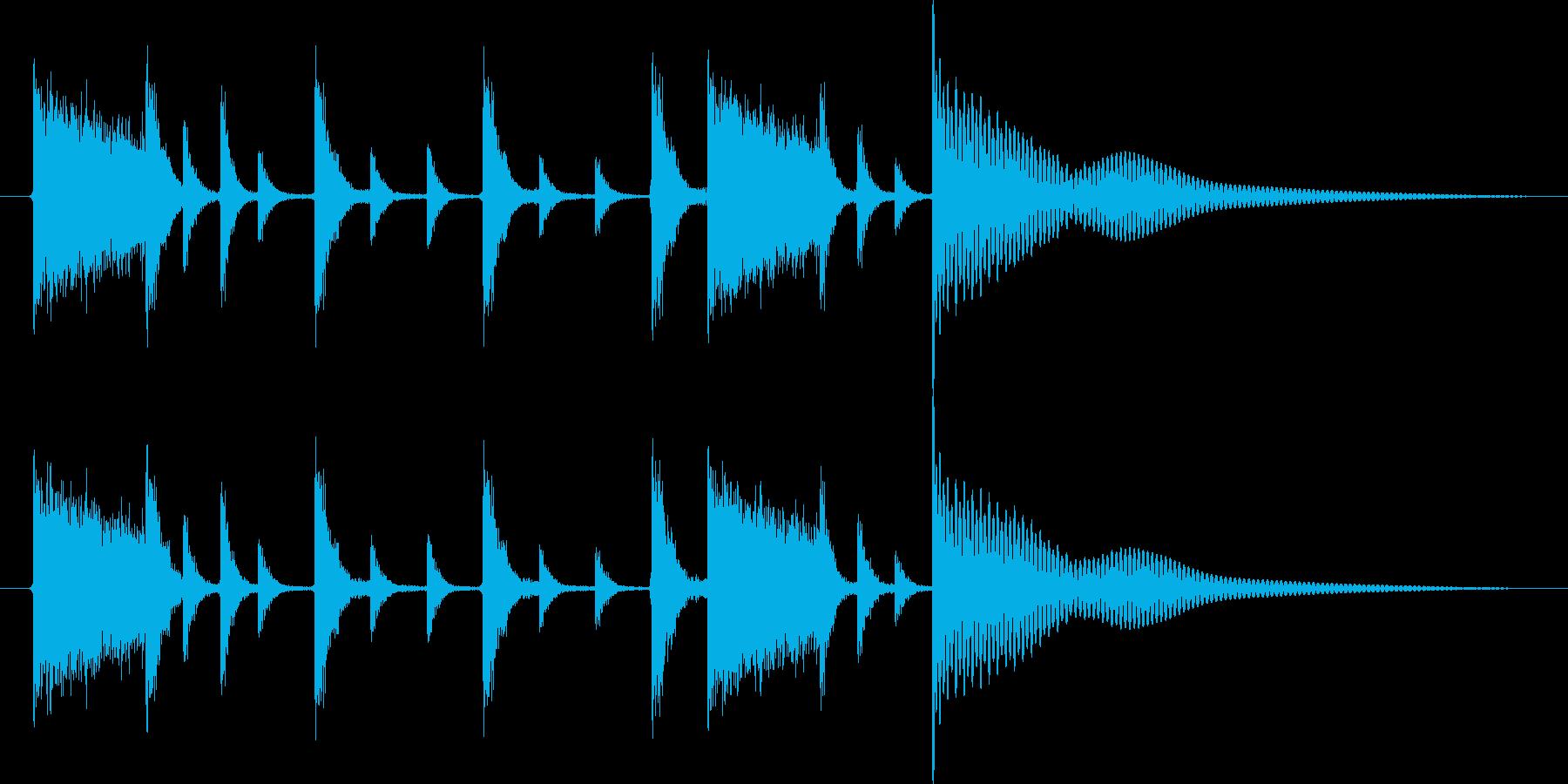 チキチキドンの再生済みの波形