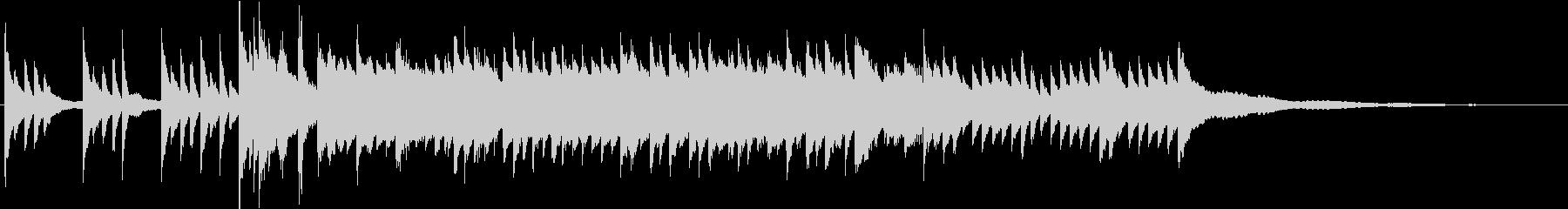 切ないブライダルBGM60秒ピアノソロの未再生の波形