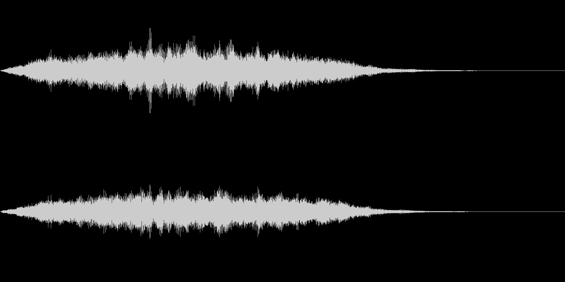 スペイシーな空間音 Dメジャーの未再生の波形