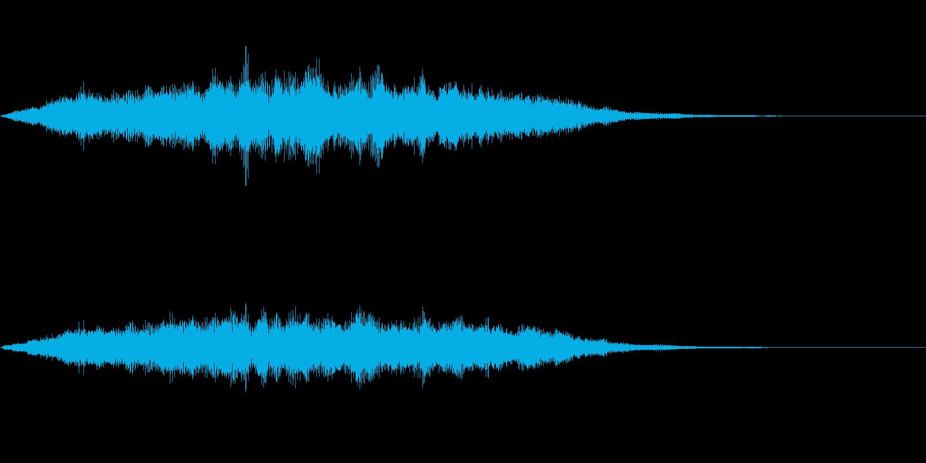 スペイシーな空間音 Dメジャーの再生済みの波形