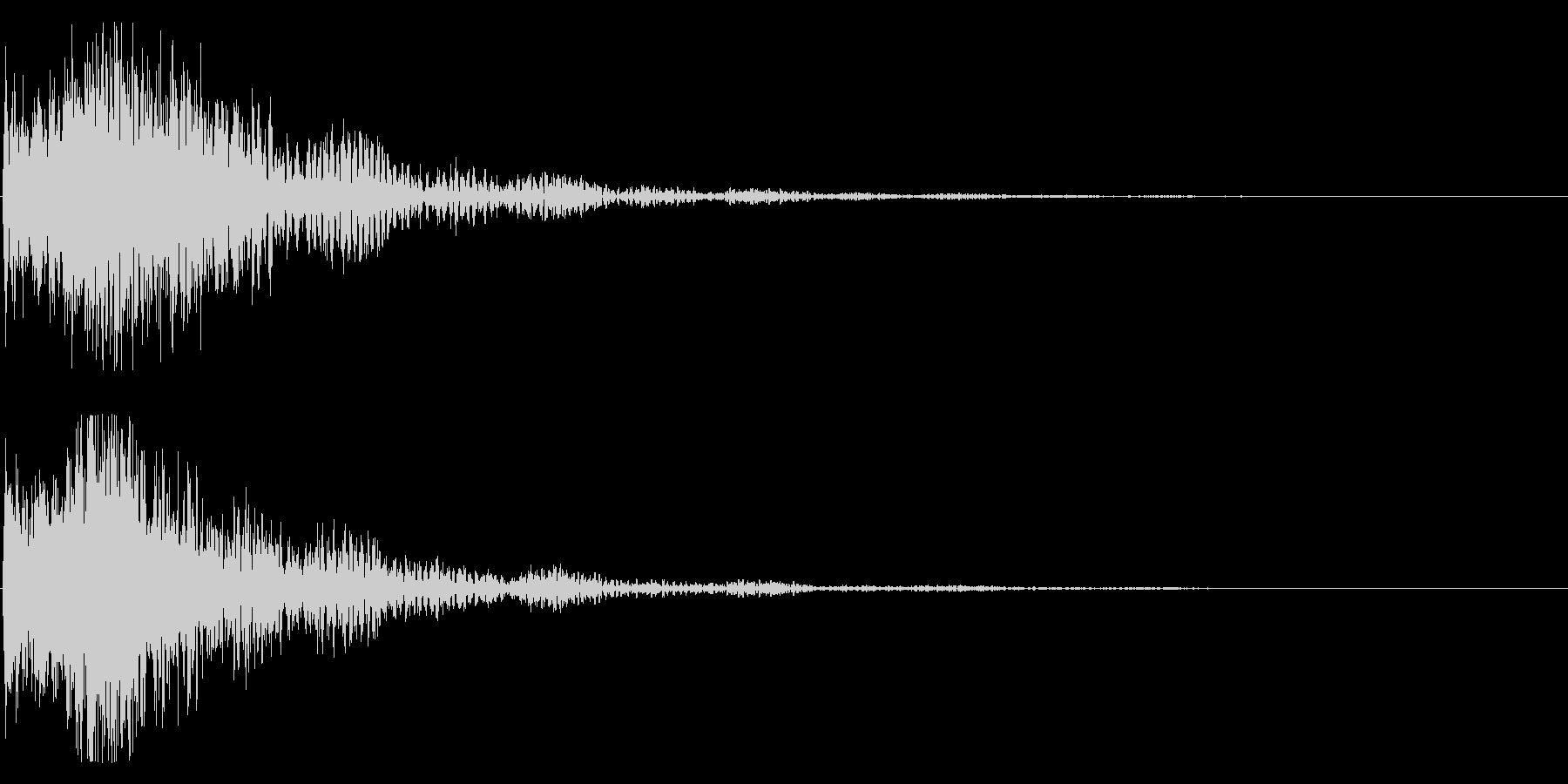 和風 オーケストラヒット ジングル!1bの未再生の波形