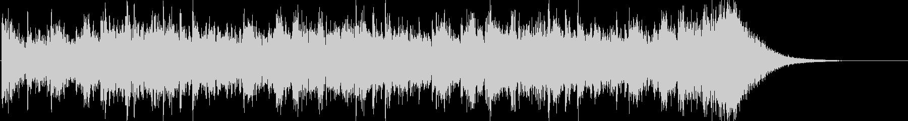 約16秒でシンバルが鳴るドラムロールの未再生の波形