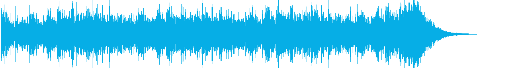 約16秒でシンバルが鳴るドラムロールの再生済みの波形
