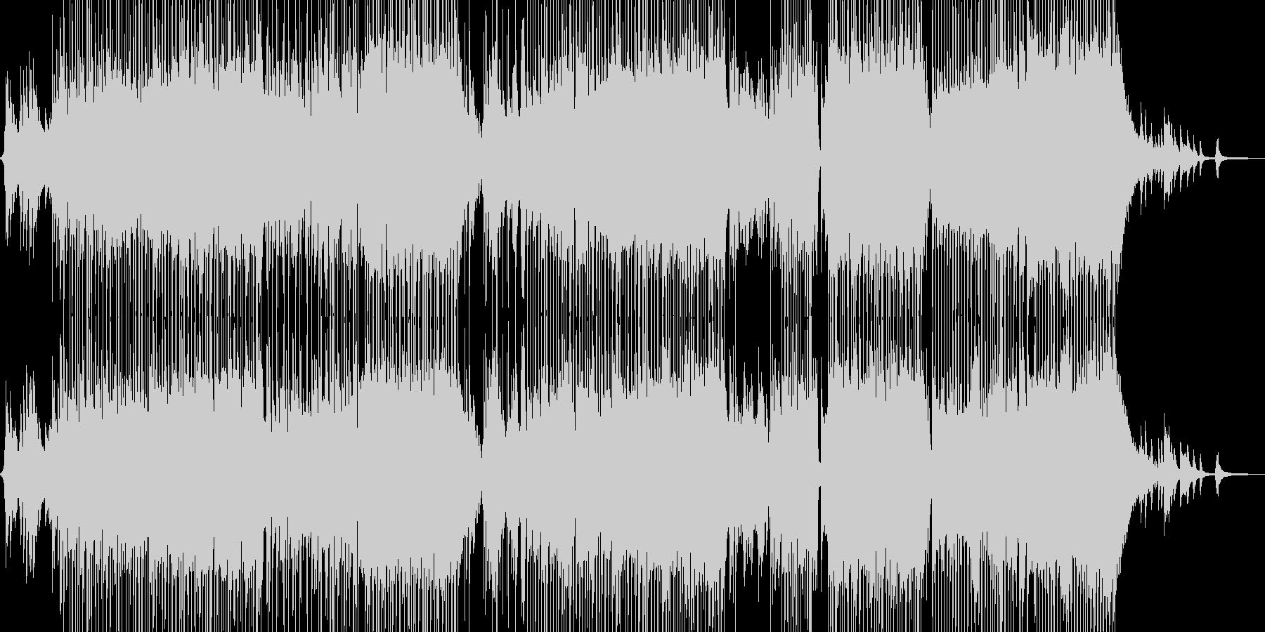 ピアノとフルートの柔和な演奏の未再生の波形