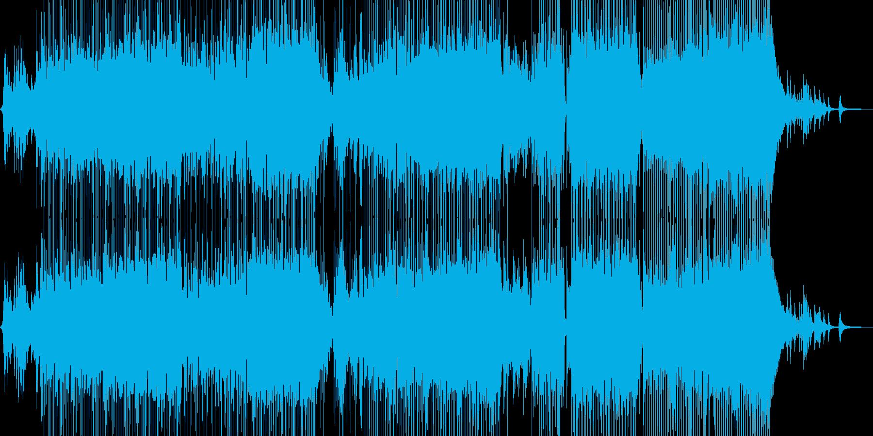 ピアノとフルートの柔和な演奏の再生済みの波形