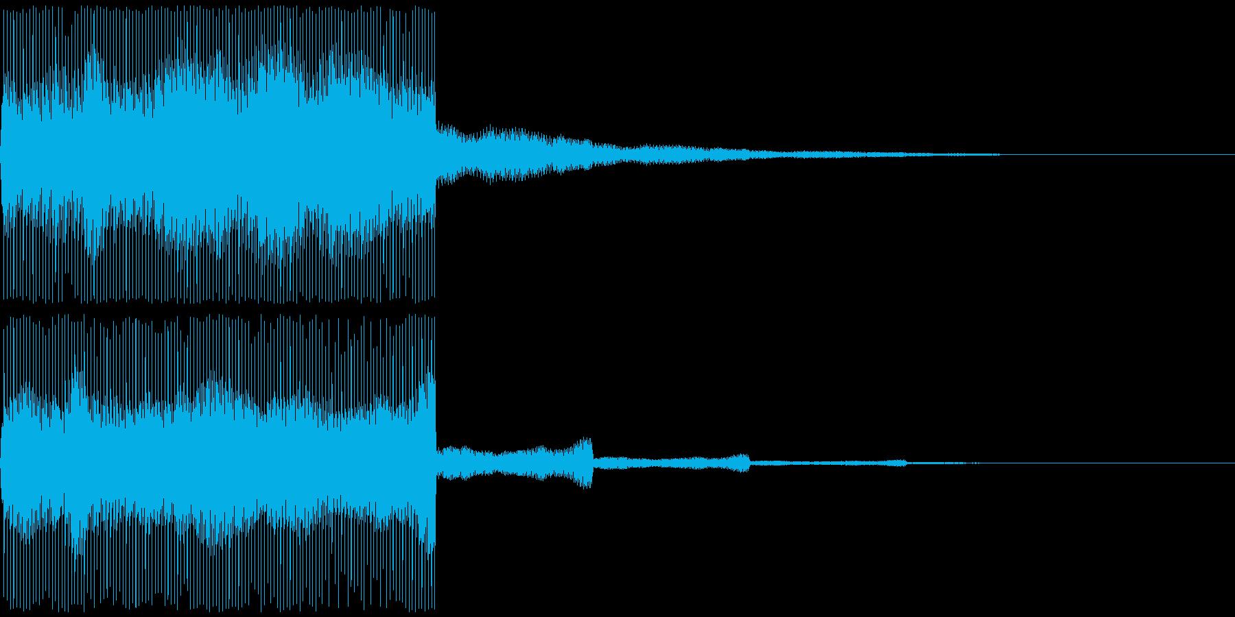 【SE 効果音】電気音の再生済みの波形