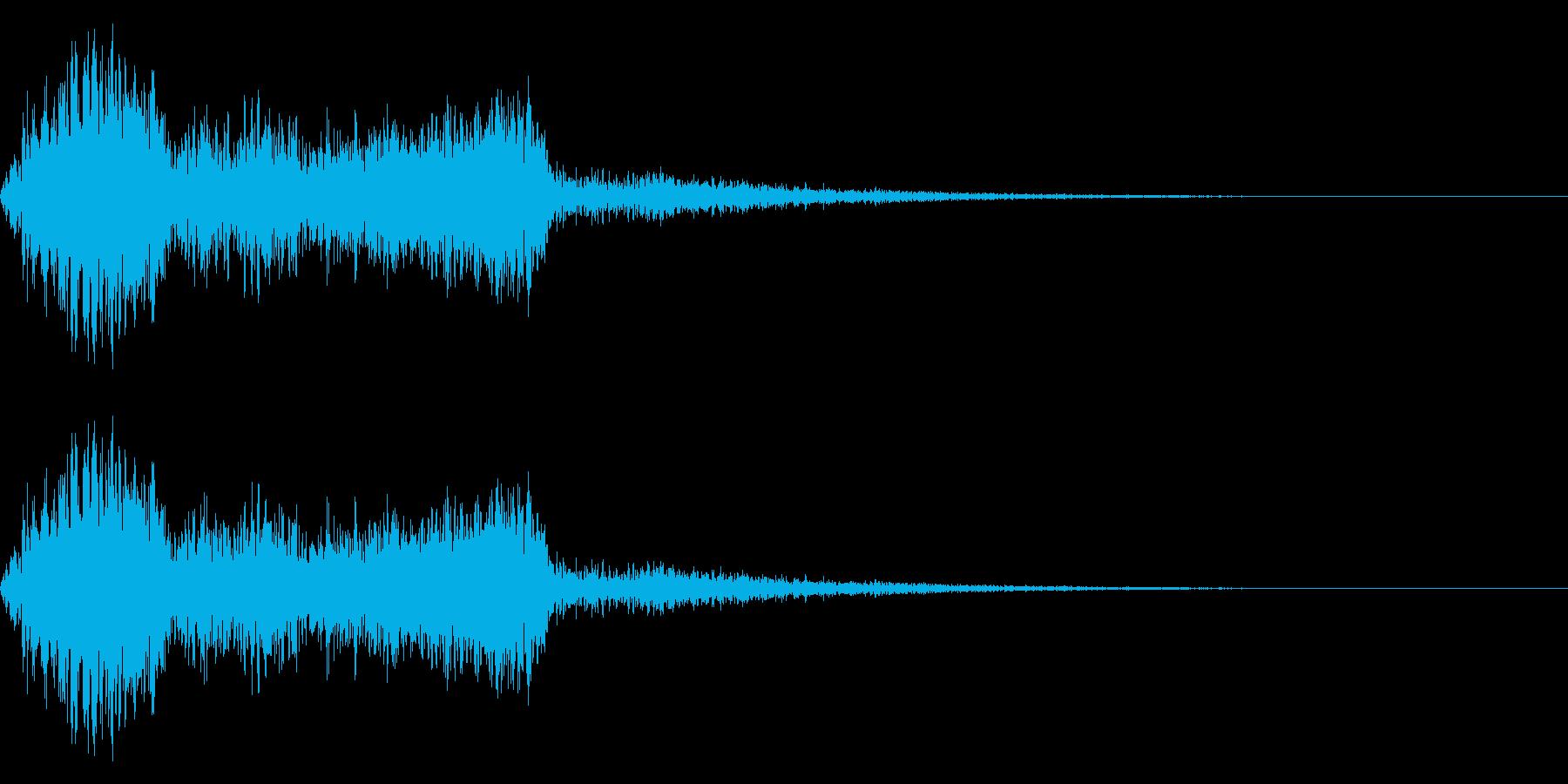 SF、アニメなどのメカ挙動音の再生済みの波形