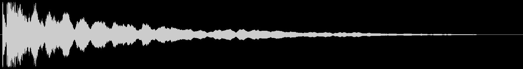 チーン ボケ オチ 突っ込み ベルの未再生の波形