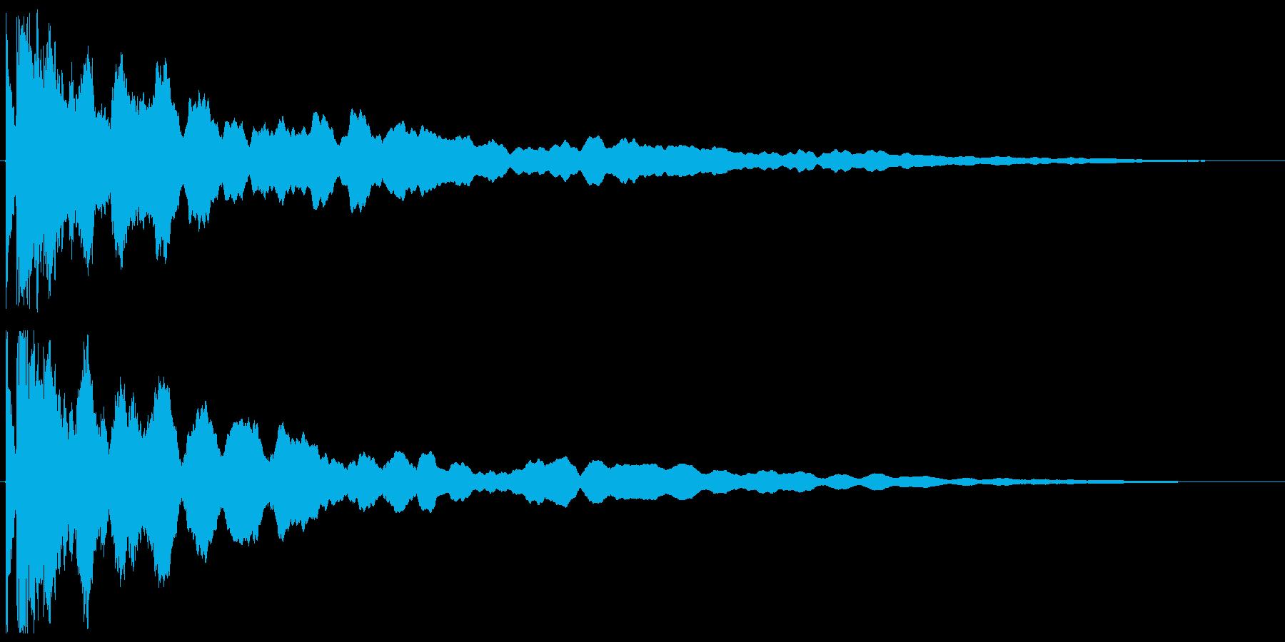 チーン ボケ オチ 突っ込み ベルの再生済みの波形