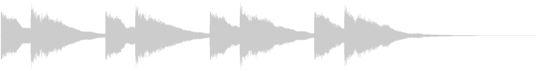 チャイム 鐘の音 キンコン カンの未再生の波形