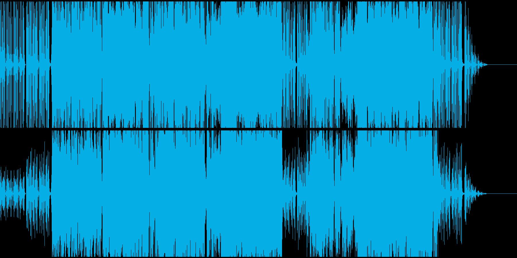 アコーディオンとチェロのワルツの再生済みの波形