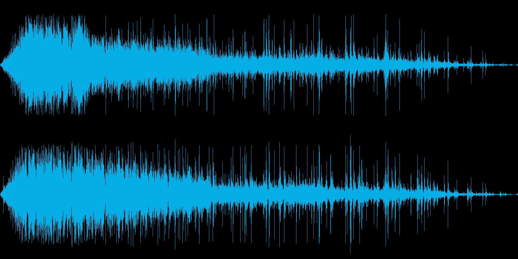 歓声と拍手1の再生済みの波形