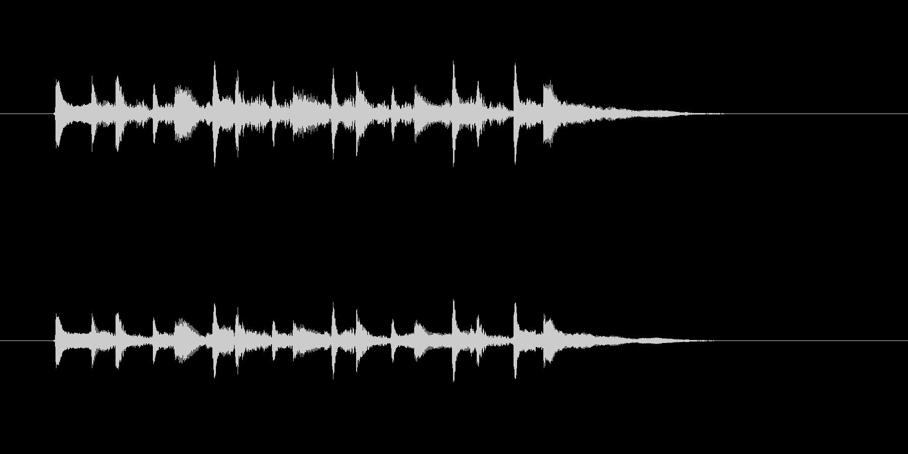 美しいギターメロディー(弦、弾く、南国)の未再生の波形